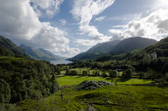 Beautiful scottish scenery - glenfinnan valley Royalty Free Stock Image