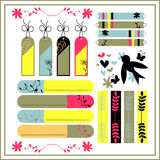 Beautiful scrapbook elements Royalty Free Stock Images
