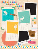 Beautiful Scrapbooking Elements. Instant film and calendar, suitable for scrapbooking, card making Vector Illustration