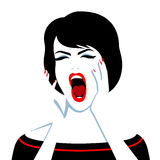 Beautiful screaming woman Royalty Free Stock Photo