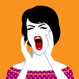 Beautiful screaming woman Stock Photography