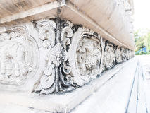 Beautiful sculpture decorated on the wall in Pra-sing temple ,Ch Royalty Free Stock Photo