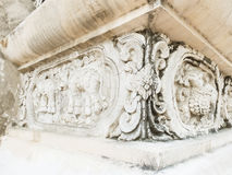 Beautiful sculpture decorated on the wall in Pra-sing temple ,Ch Stock Photo