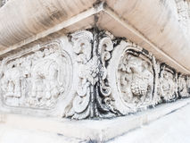 Beautiful sculpture decorated on the wall in Pra-sing temple ,Ch Stock Photography