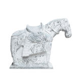 Beautiful sculpture of horse made of concrete, chinese style, is Stock Image