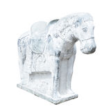 Beautiful sculpture of horse made of concrete, chinese style, is Stock Photography