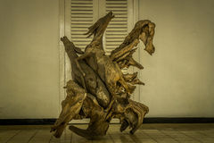 Beautiful sculpture of horse made of wood. Photo taken in bogor java indonesia Royalty Free Stock Photo