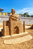 Beautiful sculpture made from the sand Royalty Free Stock Photos