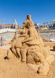 Beautiful sculpture made from the sand Stock Photo