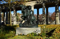 Beautiful sculpture near the Old Museum Altes Museum in Berlin. Germany stock image
