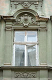 Beautiful sculpture window classic style green Stock Images