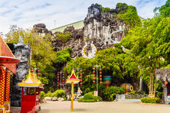 Beautiful sculptures at the entrance of Phuket fantasea, the pub stock photos