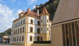 Beautiful sculptures and landscape of Vaduz Stock Photography