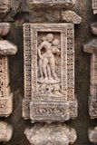 Beautiful sculptures at Mayadevi temple, Konark. Mayadevi temple is located to the southwest portion of the Sun Temple complex and consists of a sanctum and a Royalty Free Stock Photo