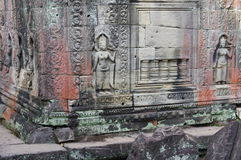 Beautiful sculptures in Preah Khan Royalty Free Stock Photography