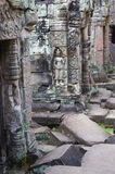 Beautiful sculptures in Preah Khan Royalty Free Stock Photos