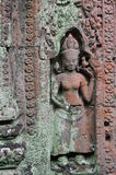 Beautiful sculptures in Preah Khan Royalty Free Stock Image