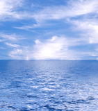 Beautiful sea. And clouds sky Royalty Free Stock Images
