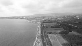 Beautiful sea aerial view stock video