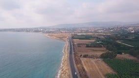 Beautiful sea aerial view stock footage