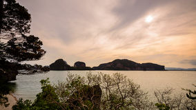 Beautiful sea around the Khao Tapu Island Stock Photos