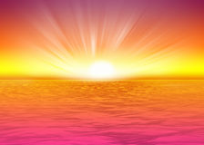 Beautiful sea background  rising sun Royalty Free Stock Images