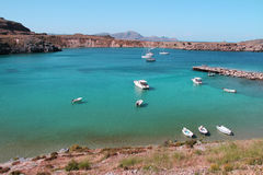 Beautiful sea bay with boats Royalty Free Stock Photos
