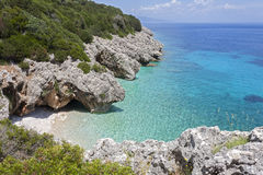 Beautiful sea bay in Kefalonia, Ionian islands, Greece Stock Image
