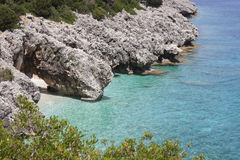 """Beautiful sea bay in Kefalonia, Ionian islands, Greece. Wonderful sea bay called """"kato Lagadi"""" in Kefalonia, Ionian islands, Greece Stock Photo"""