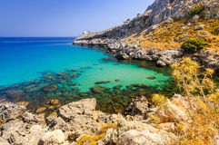 Beautiful sea bay on Rhodes Stock Images
