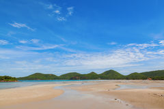 Beautiful sea beach against blue sky background in navi base Stock Image