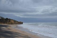 Beautiful sea beach at Albufeira !!. Algarve in Portugal Royalty Free Stock Image