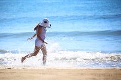 Beautiful, sea, beach, joy Stock Images
