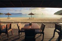 Beautiful sea beach with morning light Royalty Free Stock Photo