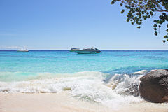 Beautiful sea and beach. At Similan Islands Stock Images