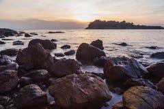 Beautiful sea beach at sunset Royalty Free Stock Image