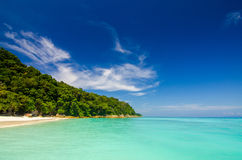 Beautiful sea and beach at Thailand Royalty Free Stock Image
