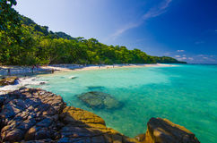 Beautiful sea and beach at Thailand Stock Photo