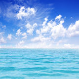 Beautiful sea with blue sky Royalty Free Stock Image