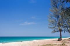 Beautiful sea and blue sky at Andaman sea,thailand Stock Photos