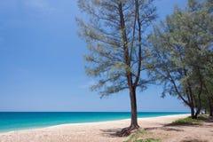 Beautiful sea and blue sky at Andaman sea,thailand Royalty Free Stock Images