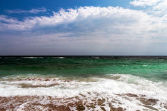 Beautiful sea with blue sky background Royalty Free Stock Photography