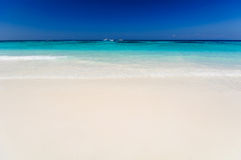 Beautiful sea,blue sky and clean beach in tachai island Royalty Free Stock Photos