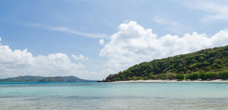 Beautiful sea and blue sky in summer at sattahip chonburi thailand Stock Photo
