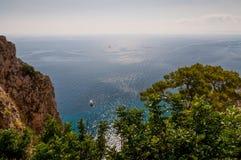 Beautiful sea in Capri Stock Image