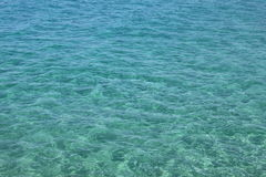 Beautiful sea and clear water. Blue sea surface with waves. Natural sea background. Royalty Free Stock Photo