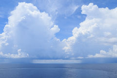 Beautiful  Sea, Clouds and Blue Sky Royalty Free Stock Photos