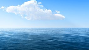 Beautiful sea and clouds sky Royalty Free Stock Photos
