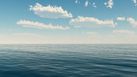Sea and clouds sky Royalty Free Stock Photos