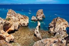 Beautiful sea coast. Sea coast and beautiful beach stock photo